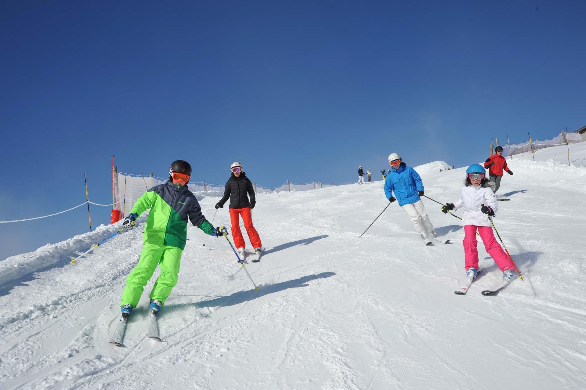 Ski groepslessen voor gezinnen