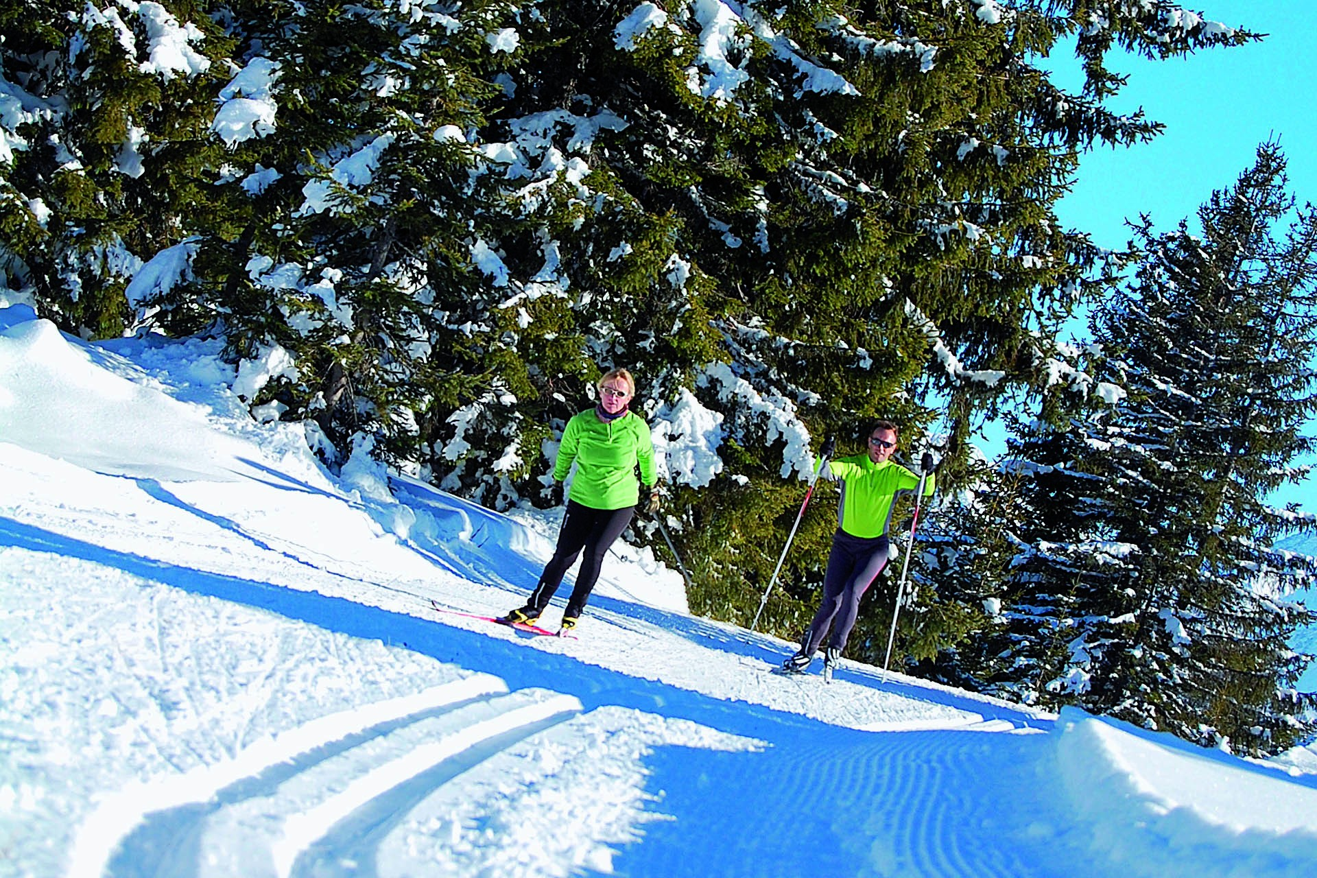Cross-country skiing lessons