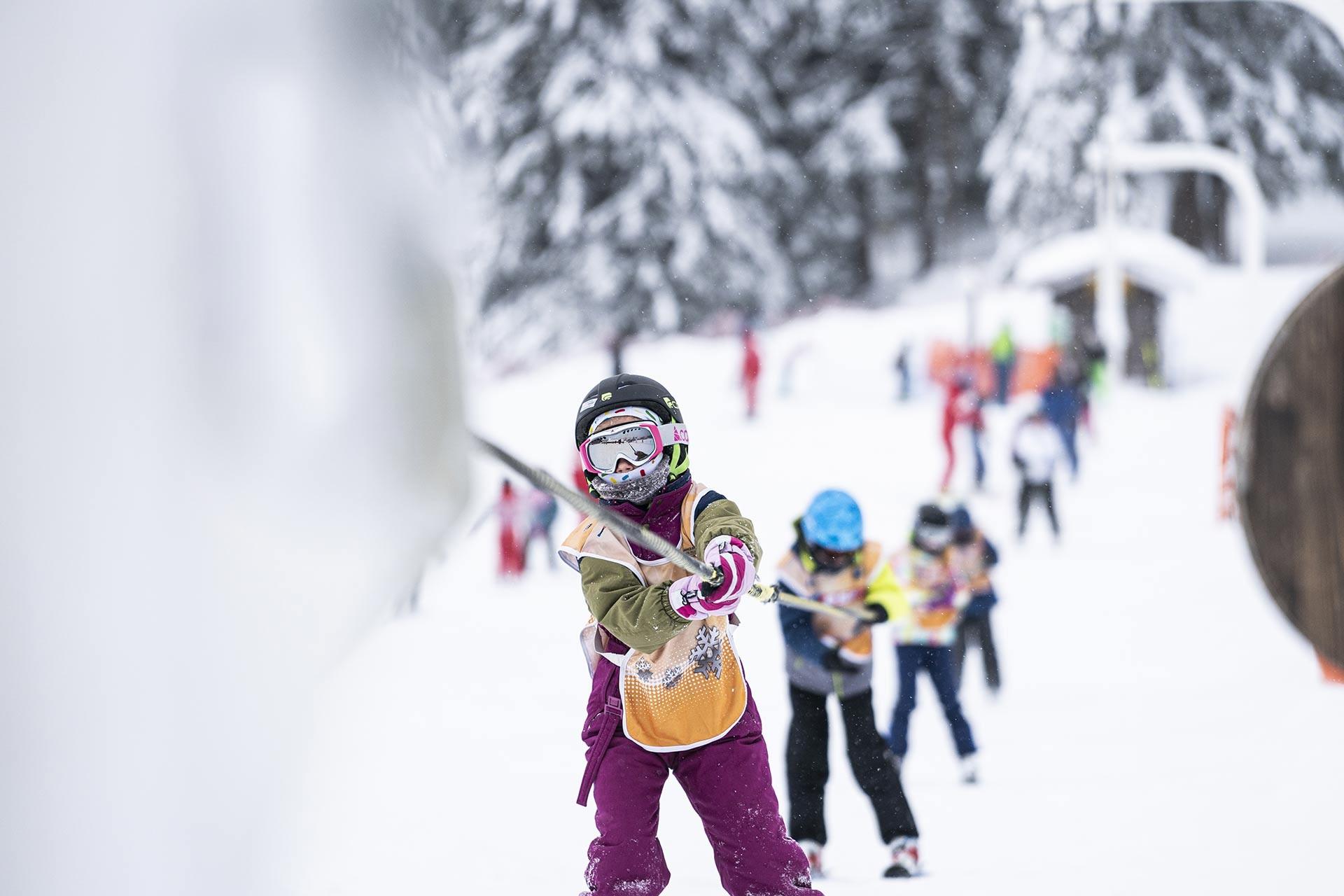 Skiën en opvang