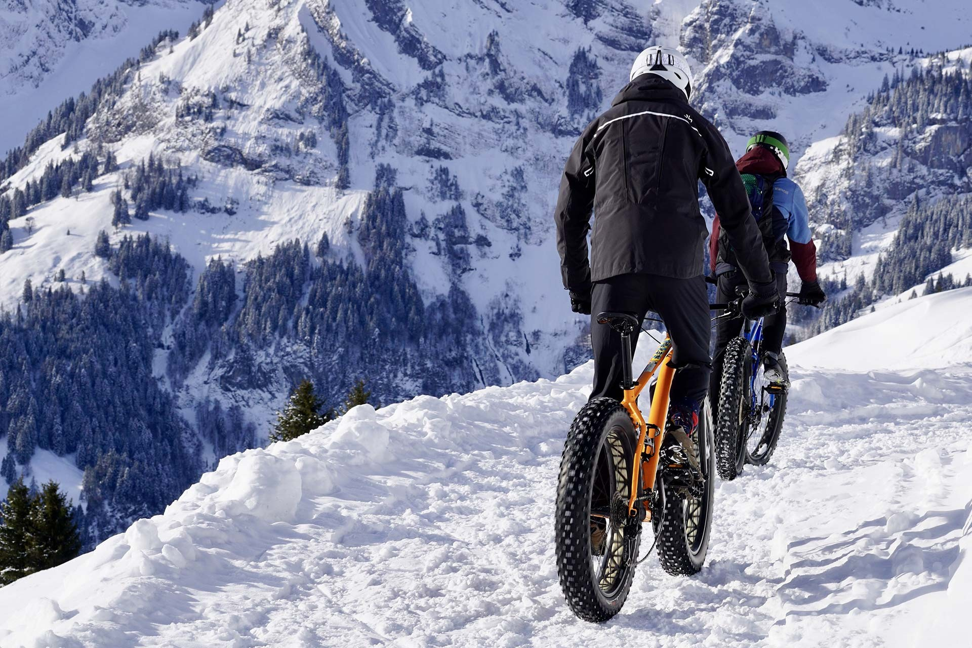 Electric MTB on snow