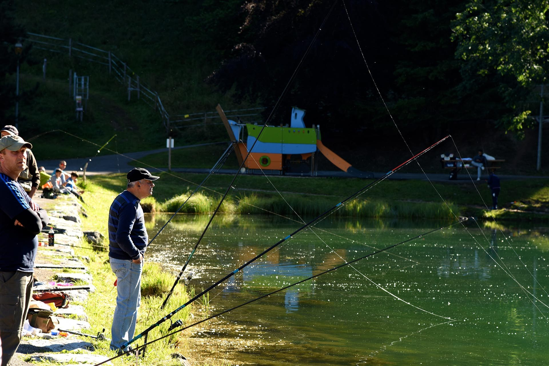 Fishing in lake Vonnes