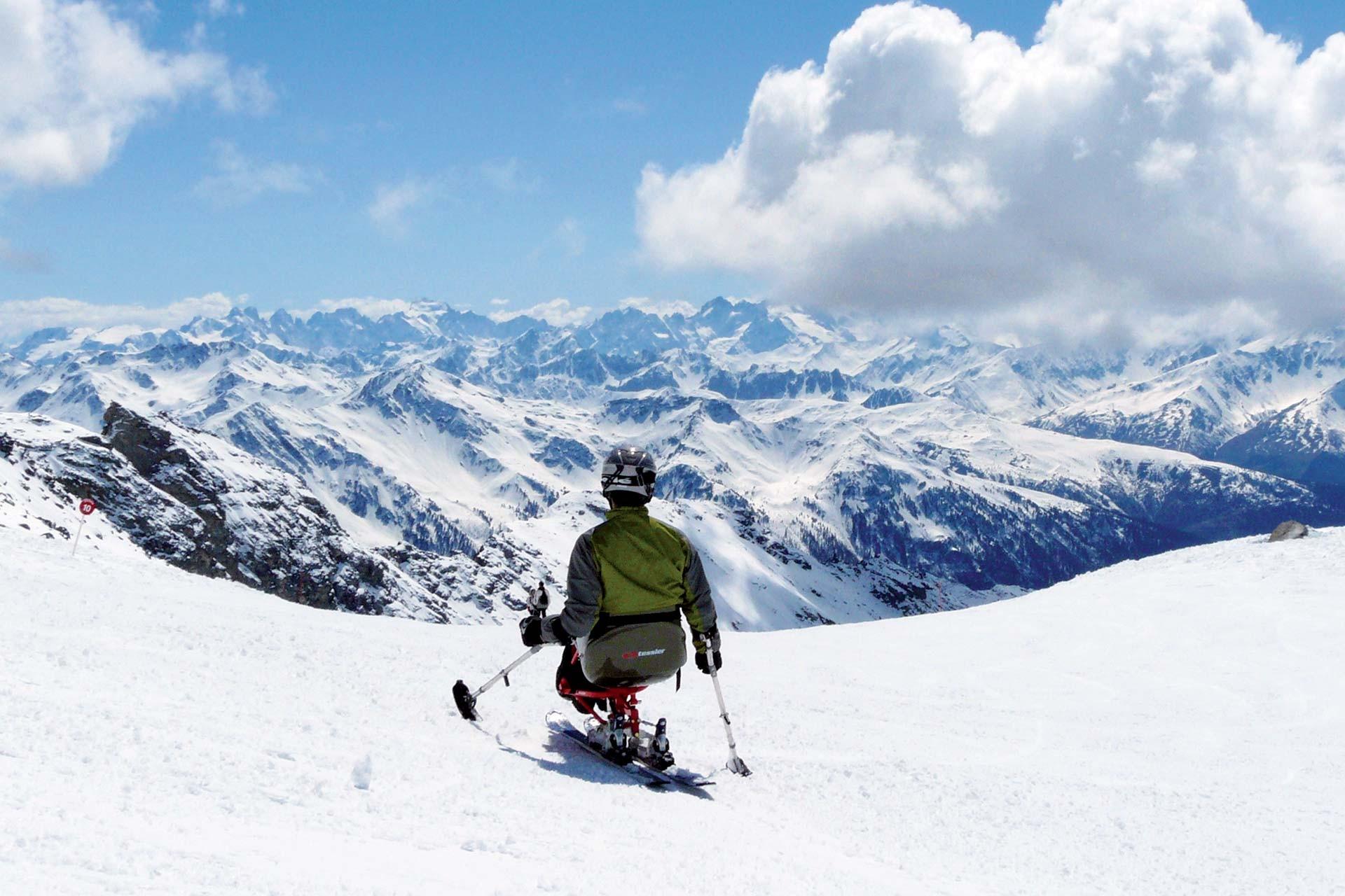 Handi ski-activiteiten