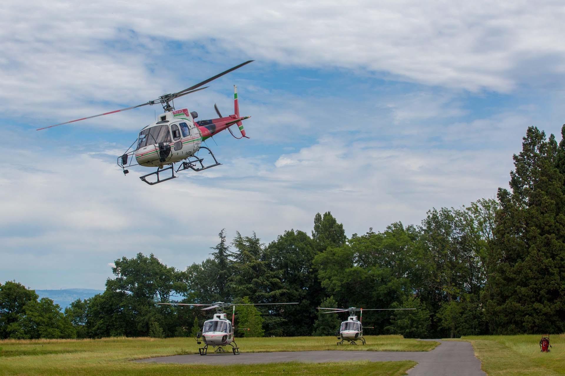 Nieuw :  Helicoptervluchten