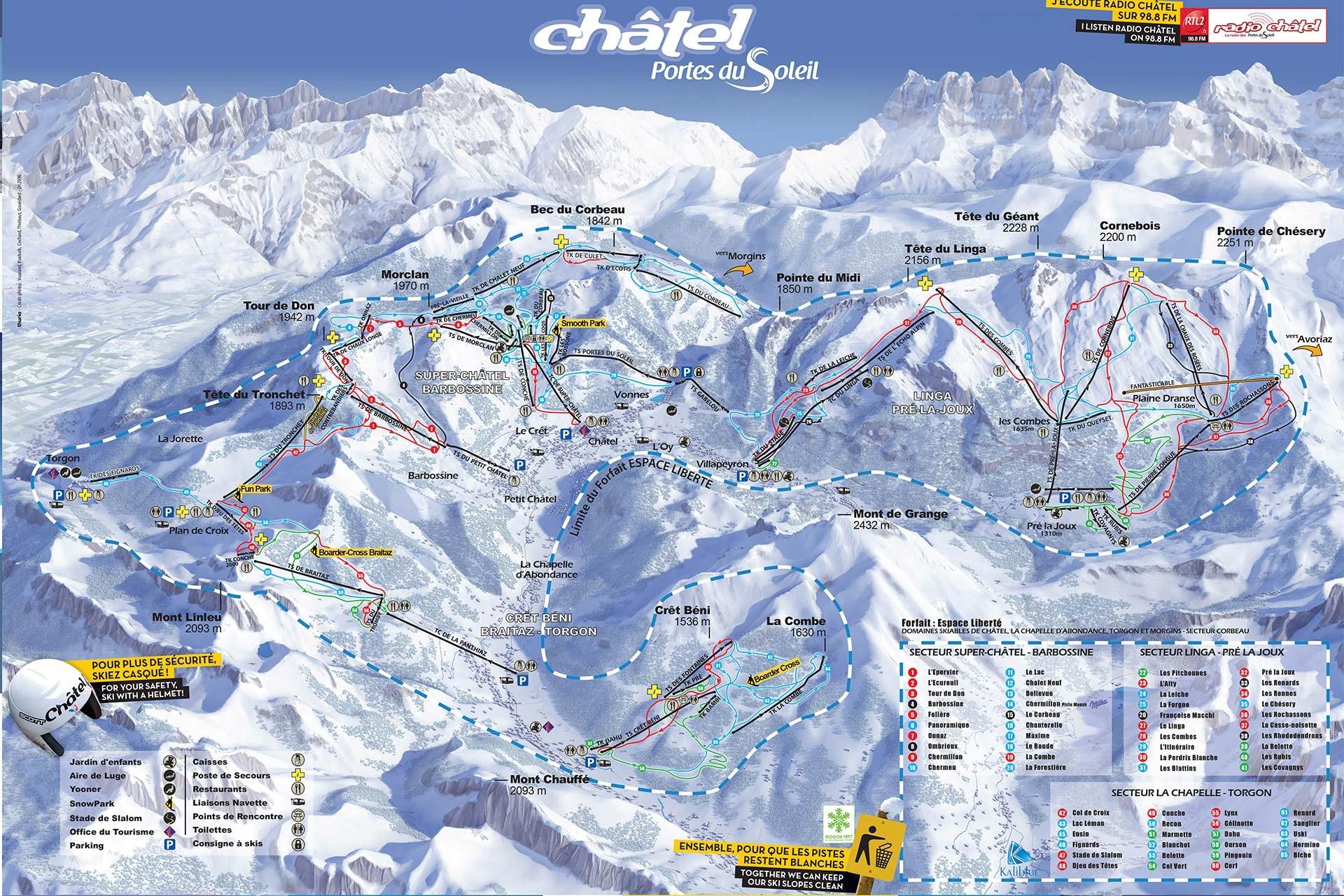 Ski maps
