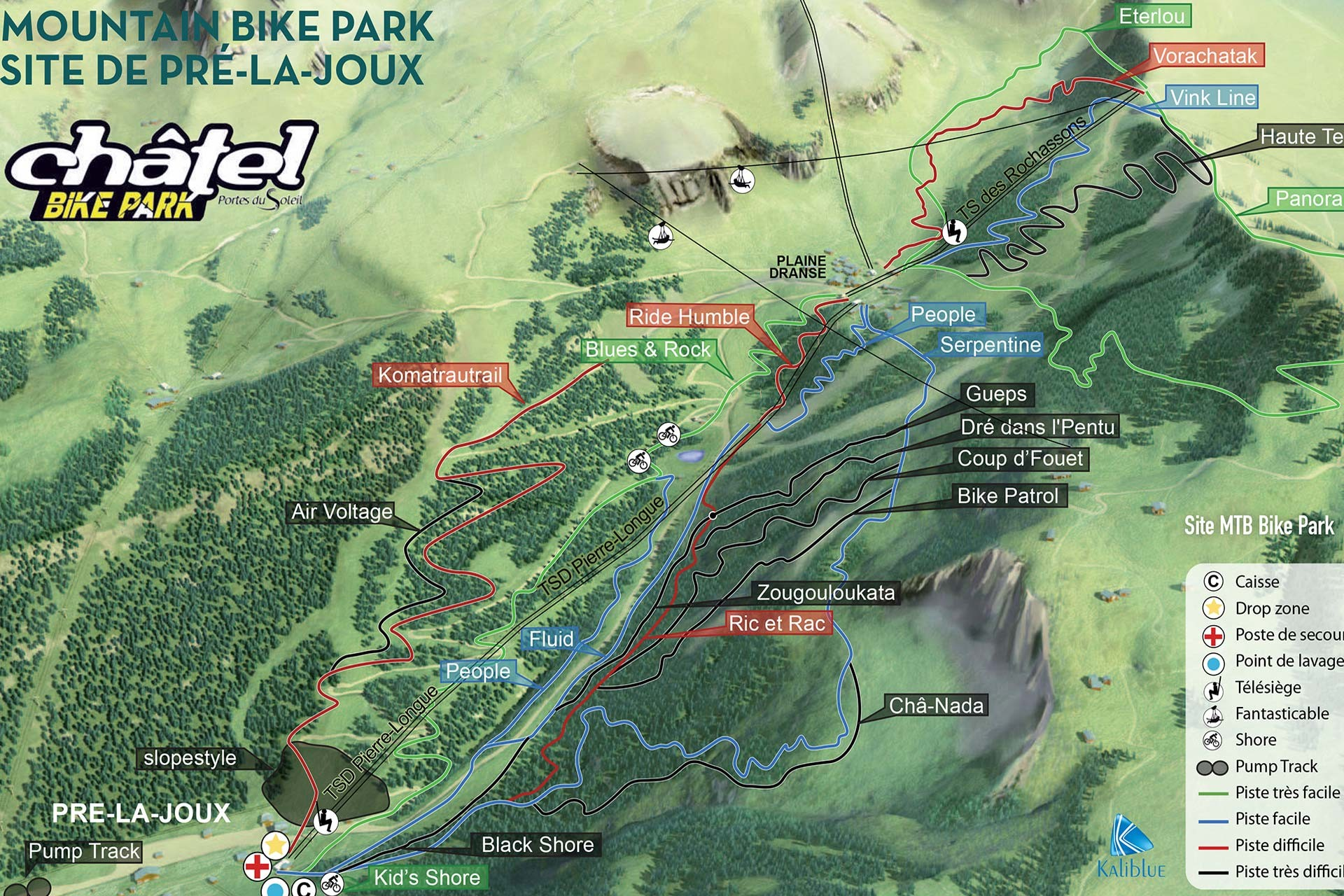 Map of the trails