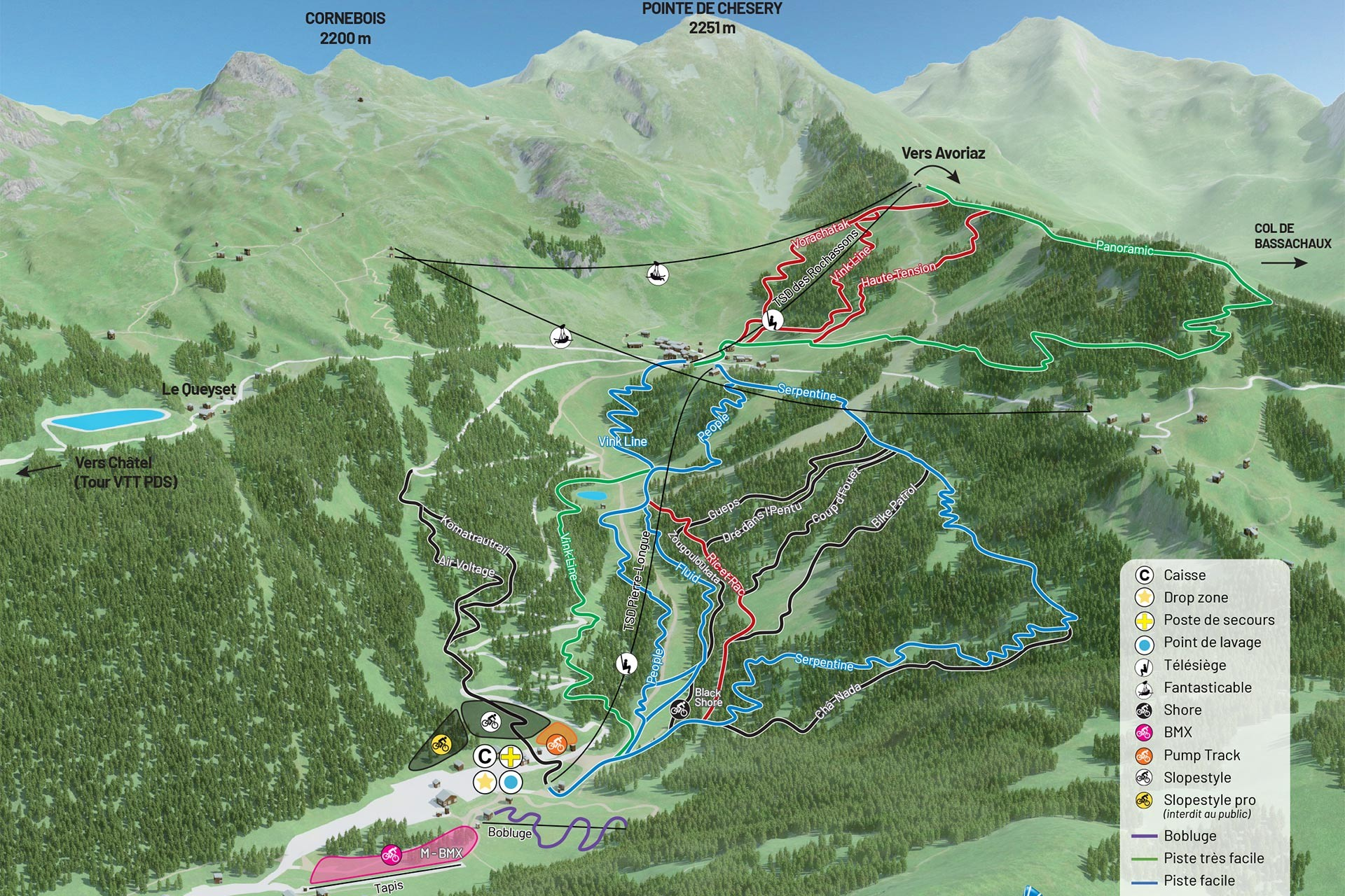 Map of the MTB trails