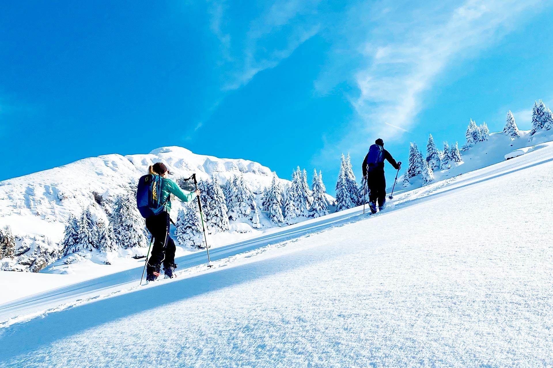 Ski touring trails