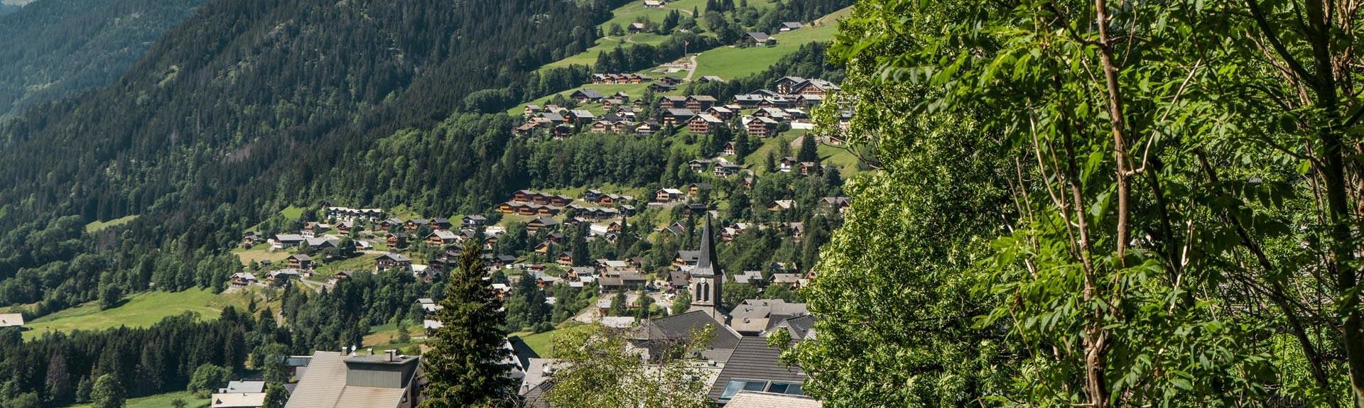 Het dorp van Châtel