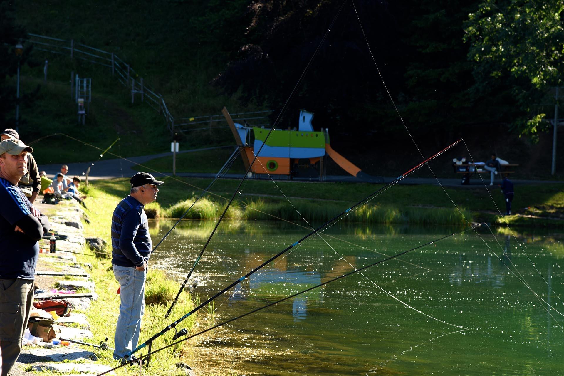 Vissen aan het Vonnes meer