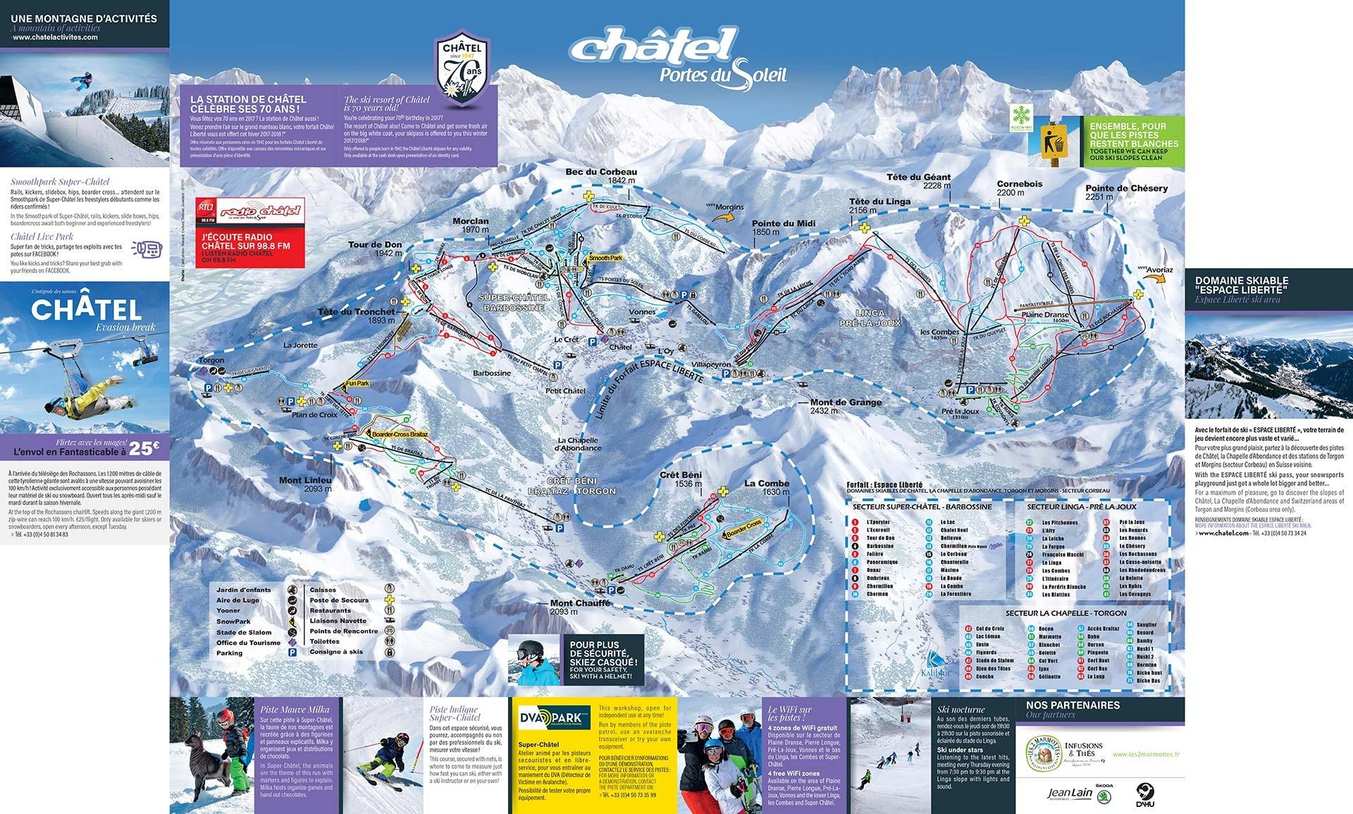 Plan des pistes domaine skiable office de tourisme de ch tel - Office de tourisme chatel 74 ...