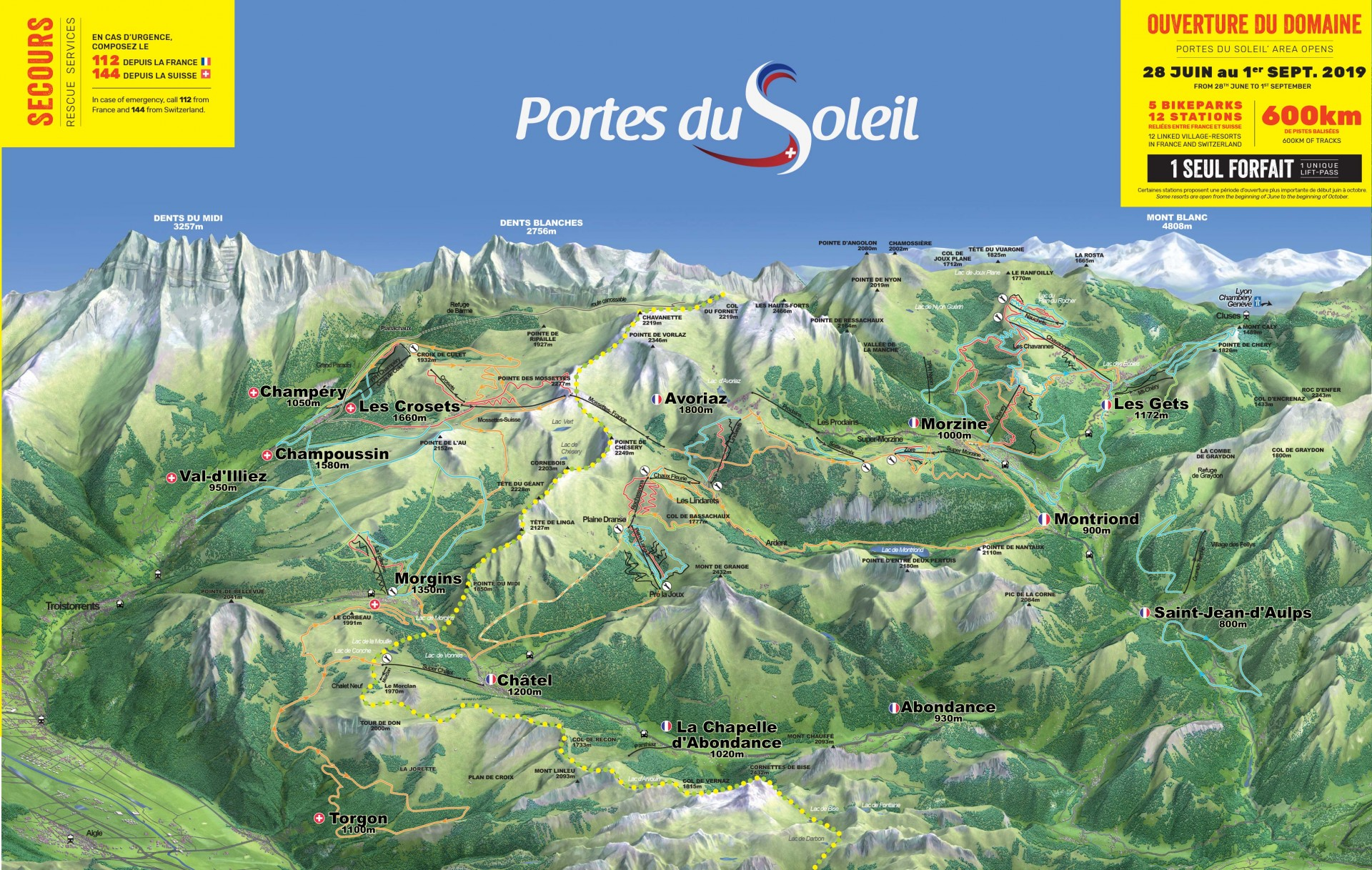 MTB circuits in the Portes du Soleil