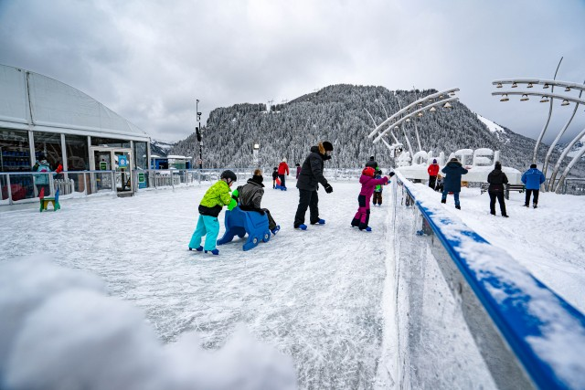 Châtel ice skating rink