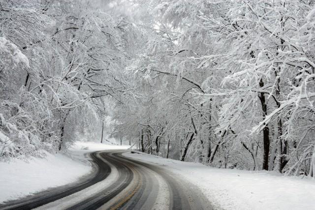 Les routes sont enneigées