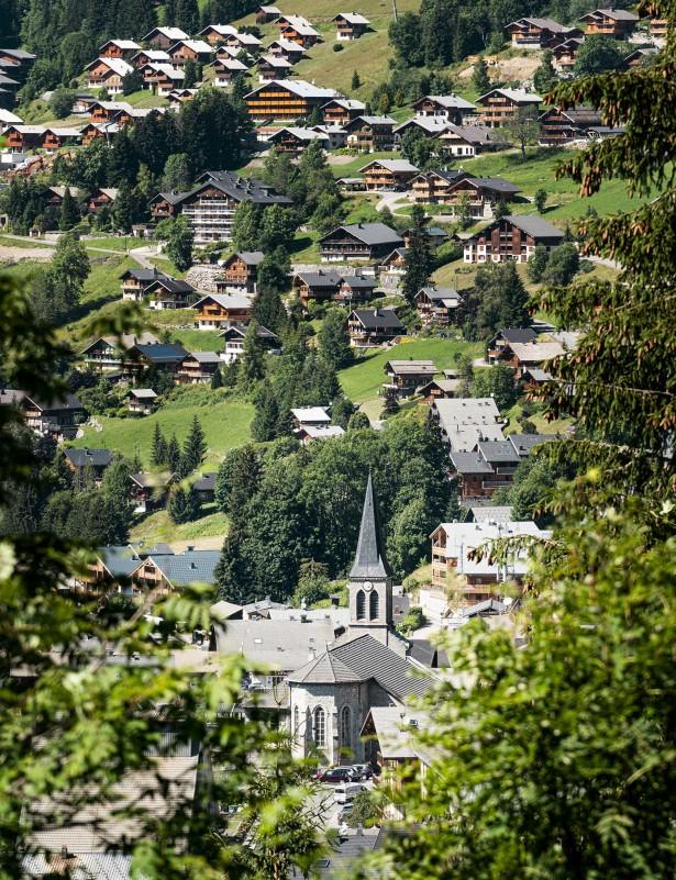 Het dorp in zomer