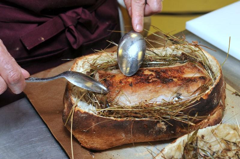 Selle d'agneau en croute de foin