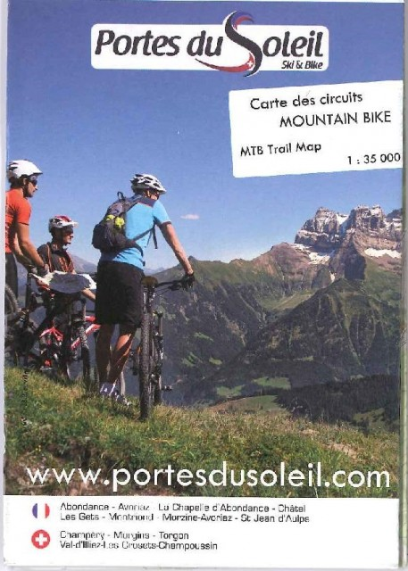 Carte des circuits mountain bike des Portes du Soleil