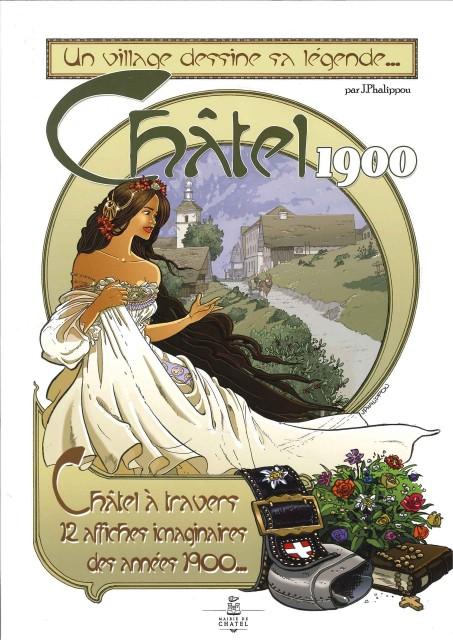 Set van 12 posters in doos - Châtel 1900